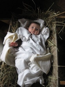 """Baby Jesus"" in a manger"