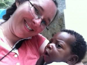 Holding Babies in Haiti